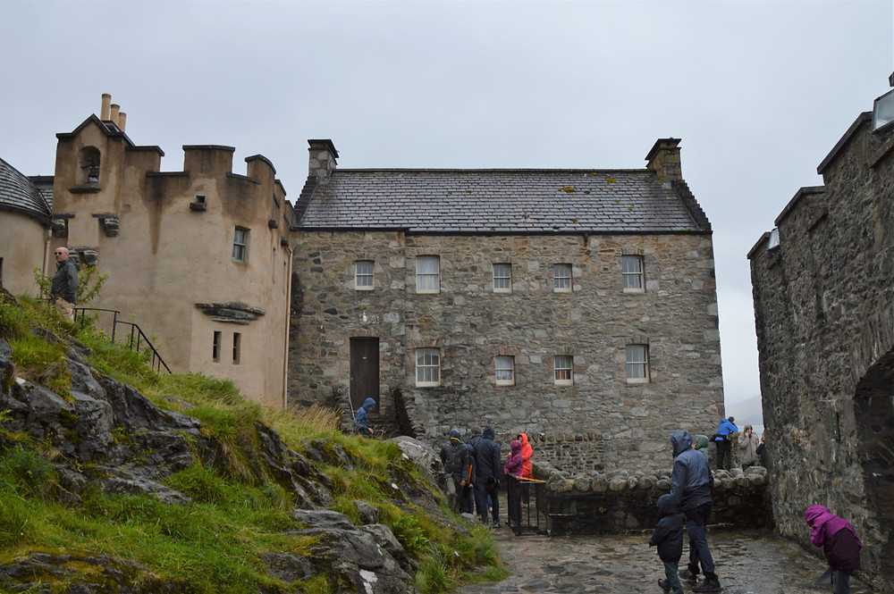 Building in the Inner Courtyard of Eilean Donan Castle on the Isle of Skye