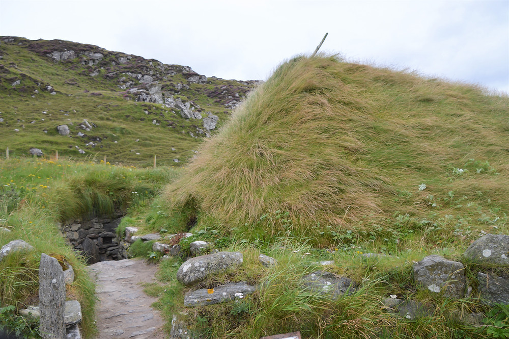 The Bostadh Iron Age house dating back to 500-700 AD uncovered after a winter storm in 1993