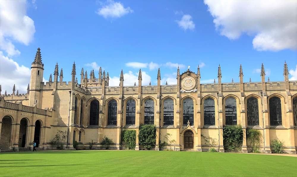 The All Souls Library founded in 1710 at the All Souls College in Oxford, England