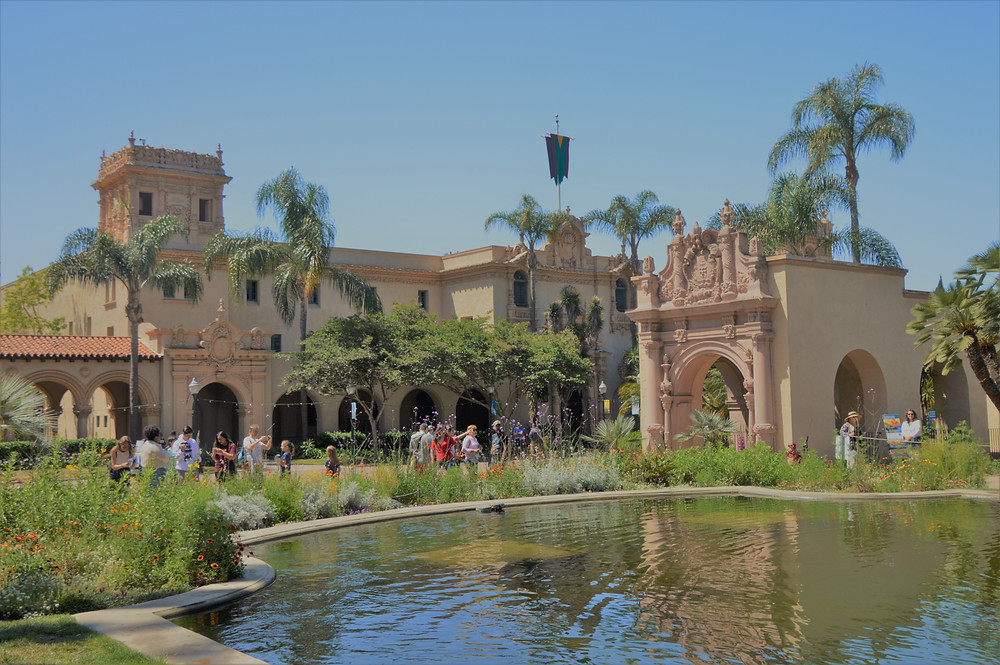 Reflecting pond and Balboa Park in San Diego