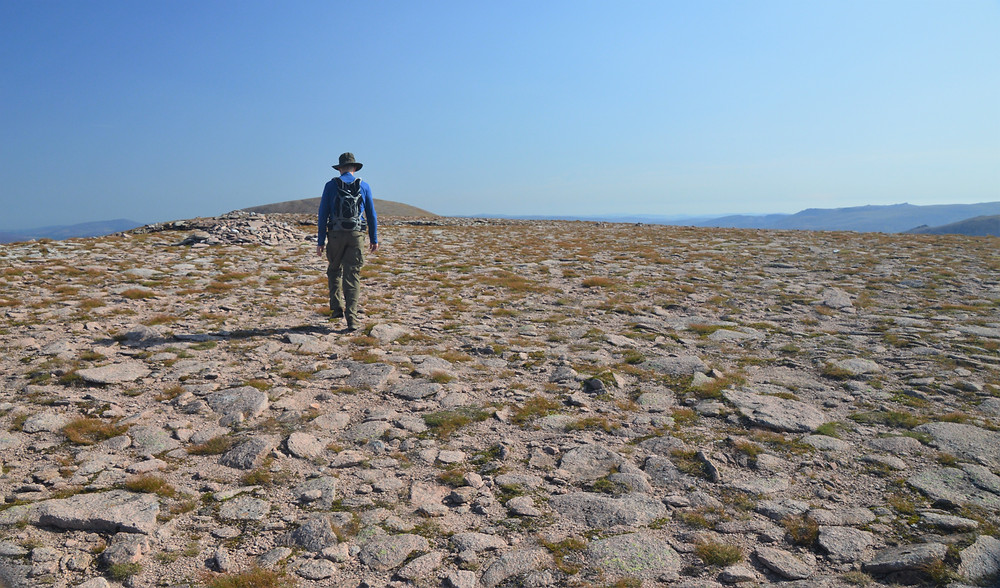 The trail continued with a short ascent to the summit of Cairn Lochan at 3,986 ft.