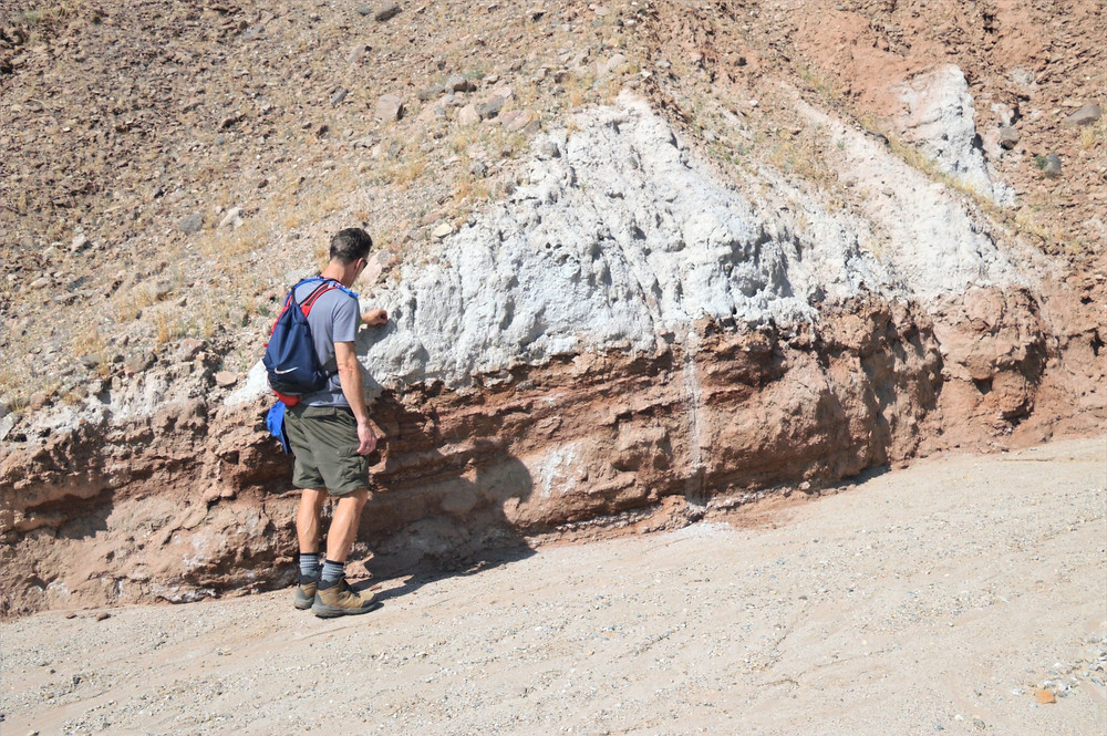 Mecca Conglomerate along trail in Mecca Hills