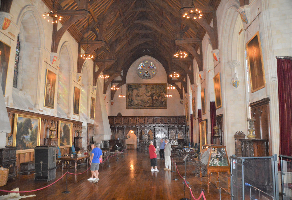 The Grand Hall in Arundel Castle was renovated in the 1890s