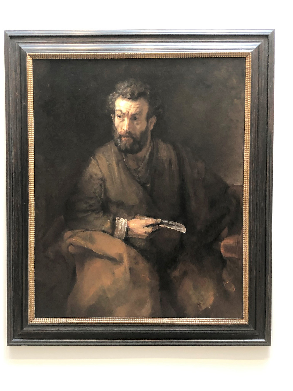 Rembrandt's 'Saint Bartholomew' in Timken Museum of Art in San Diego Balboa Park