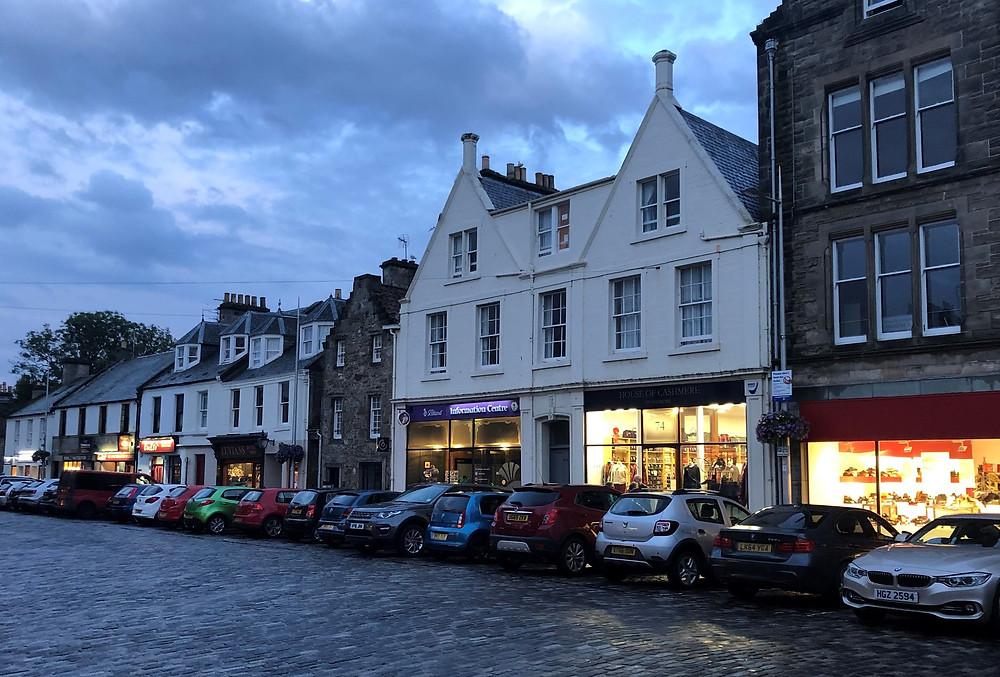 Main street in St Andrews, Scotland