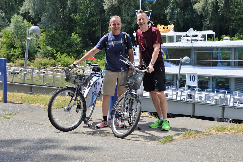 Biking in the Wachau Valley along the Danube River in Austria