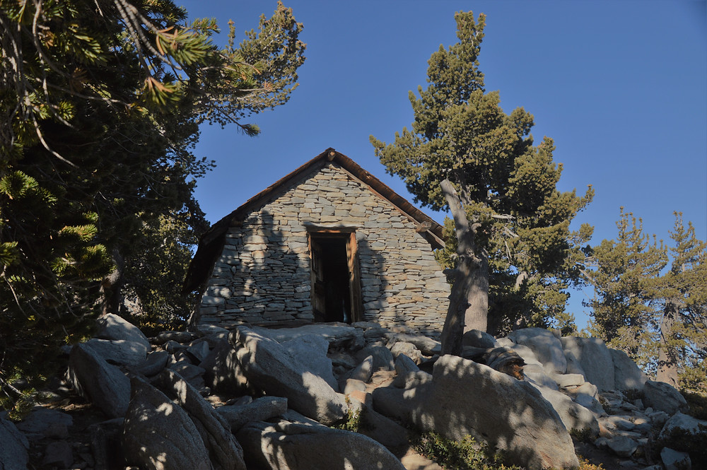 The Emergency Stone Hut on the San Jacinto trail.  The hut was built in the 1930s