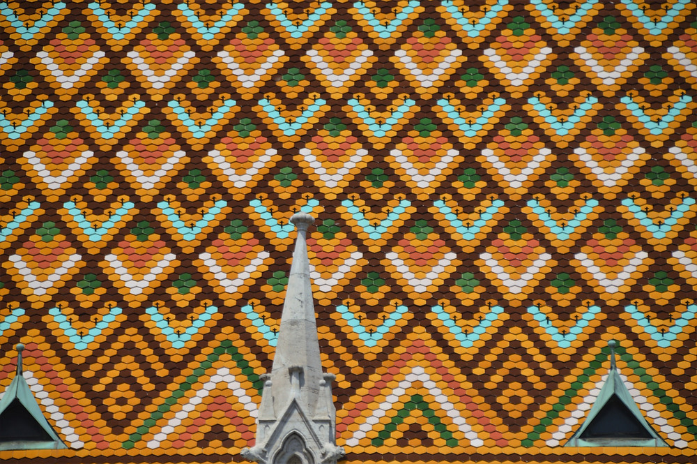 The roof of Matthias Church is covered with 150,000 of the famous Zsolnay ceramic tiles that were installed in late 19th century