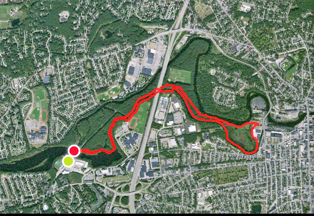 Satellite image of Mine Falls Trails and Park in Nashua NH
