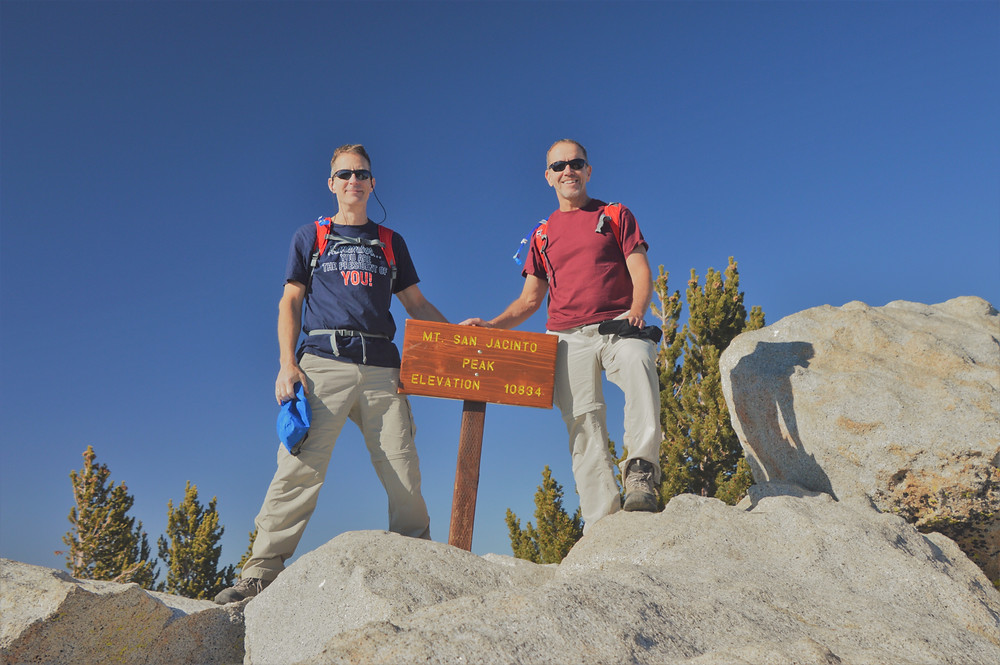 Rocky summit of San Jacinto at 10,834 ft the second highest mountain in Southern California