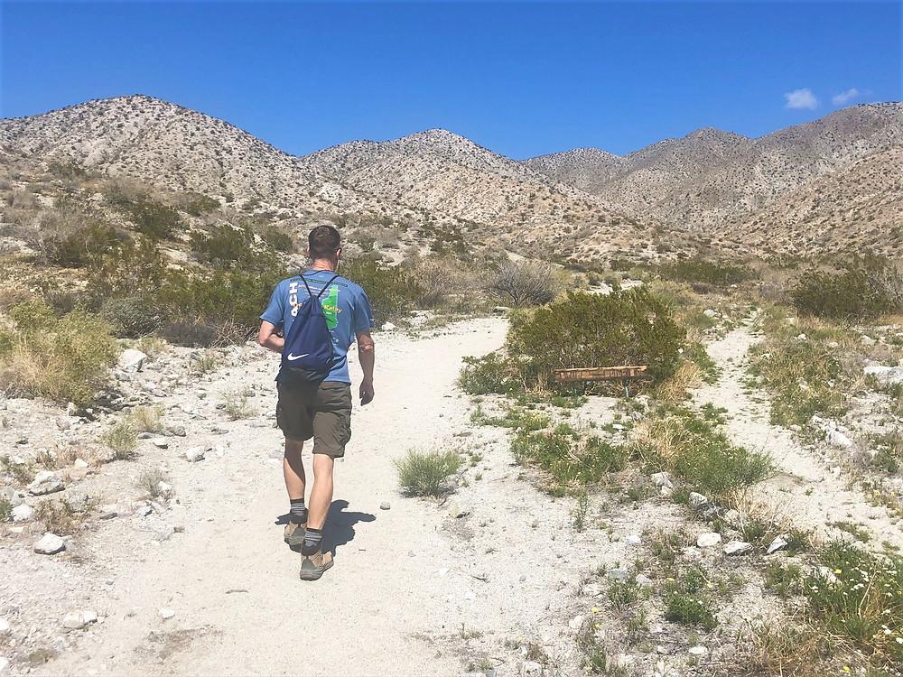 Hiking in foot hills of the Little San Bernardino mountains, Swiss Canyon trail