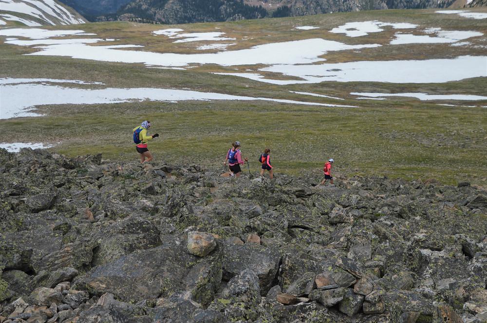 Rocky scramble to the summit of Hallett Peak in Rocky Mountain National Park