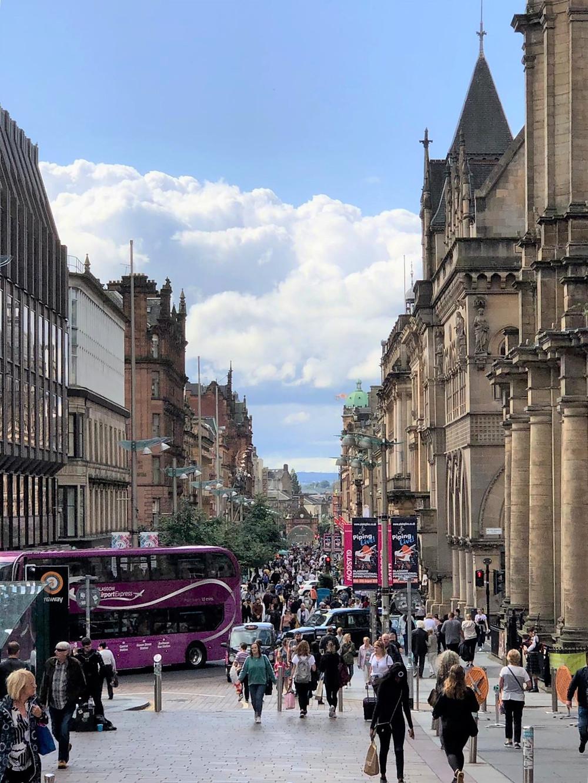 Buchanan and Argyle Street Retail District in Glasgow