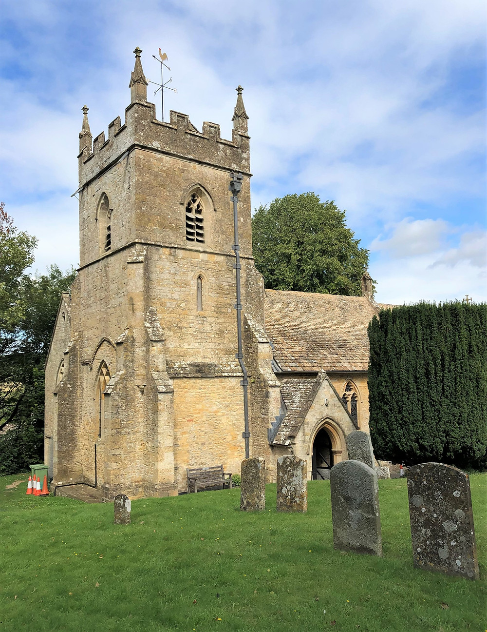Church of St Peter's in Upper Slaughter of the Cotswolds