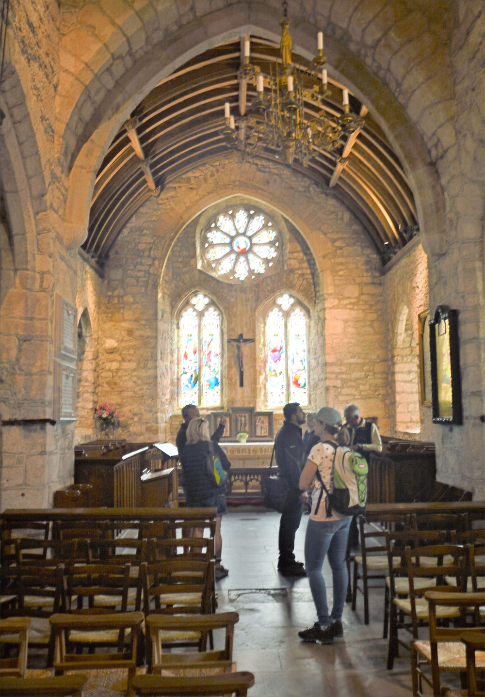 Inside the church of St. Michael within the St Michael's Mount Castle