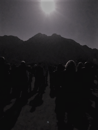 Friends of the Desert Mountains full moon hike in the La Quinta Cove area
