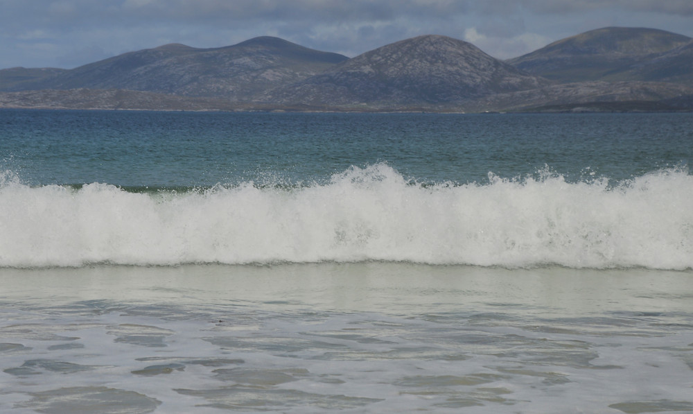 Crystal clear water at  Luskentyre Beach in Lewis and Harris in the Outer Hebrides