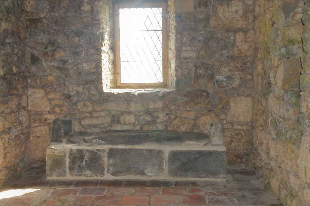 1557 tomb of John MacLeod of Minginish 10th Chief of the Clan in St. Clement's Church in the village of Rodel on Lewis and Harris in the Outer Hebrides