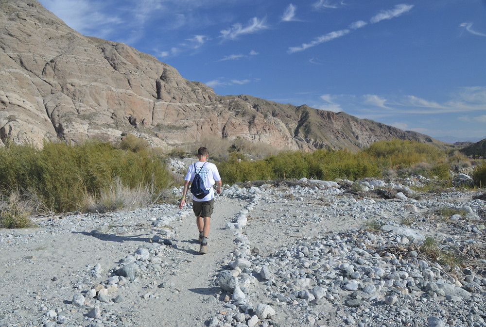 Hiking Red Dome Trail in the Whitewater Preserve of San Bernardino Mountains