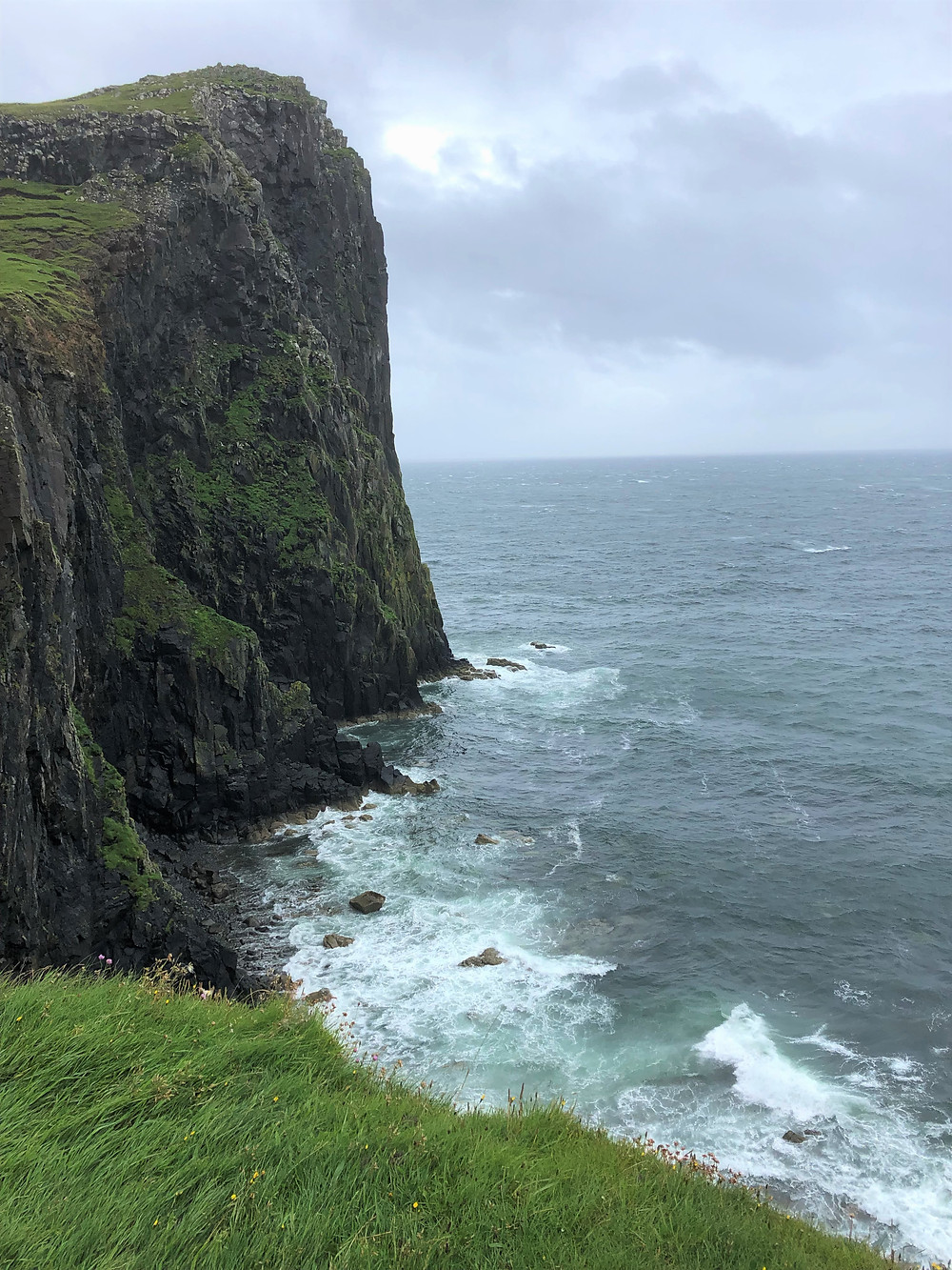 Towering sea cliffs of Neist Point on the Isle of Skye
