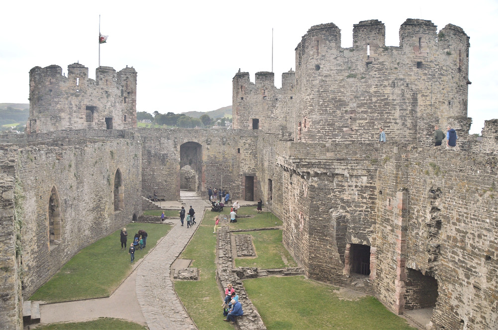Conwy Castle Outer Ward contained the Great Hall. Chapel and other domestic buildings. Built 1280s