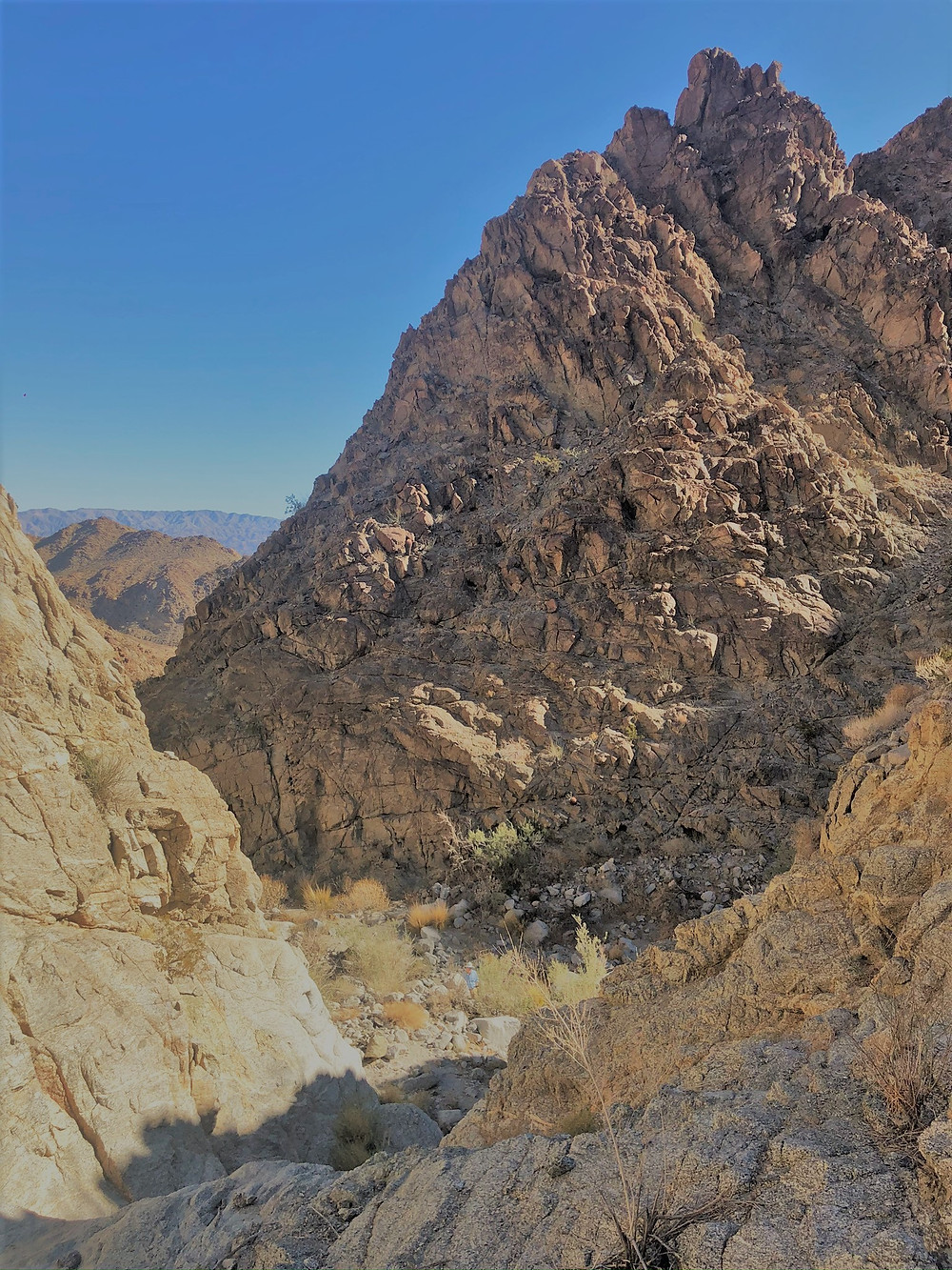 Steep sided canyon near entrance to Santa Rosa Mountains in La Quinta. Friends of the Desert Mountains