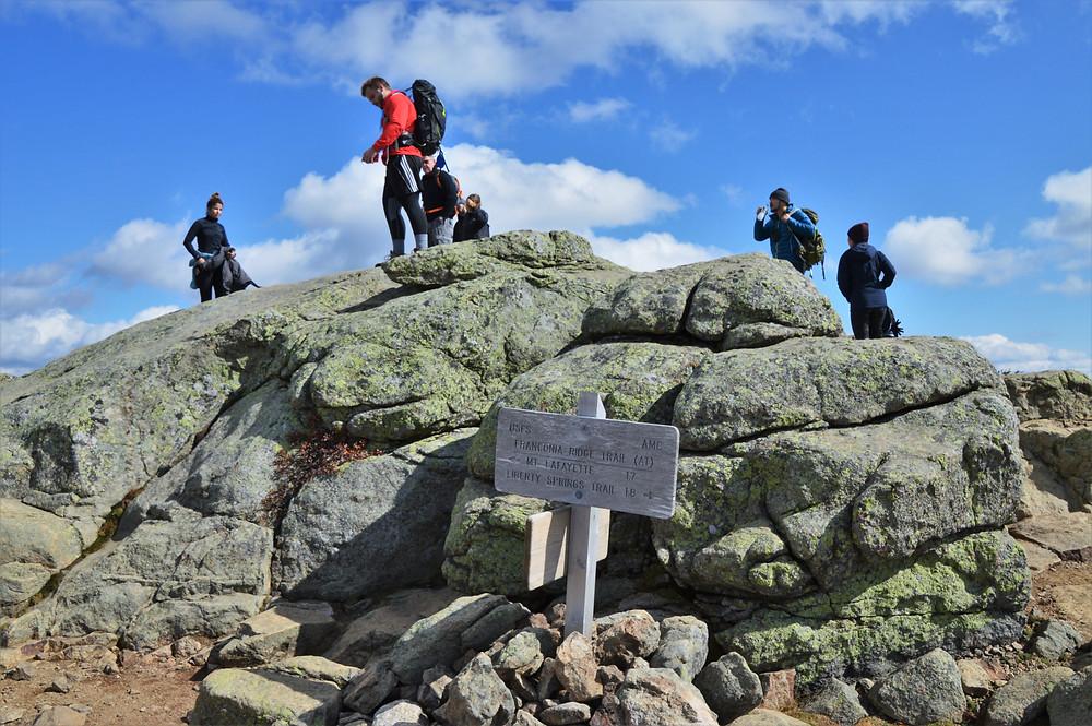 Summit of Little Haystack Mountain in the Franconia Mountain Range