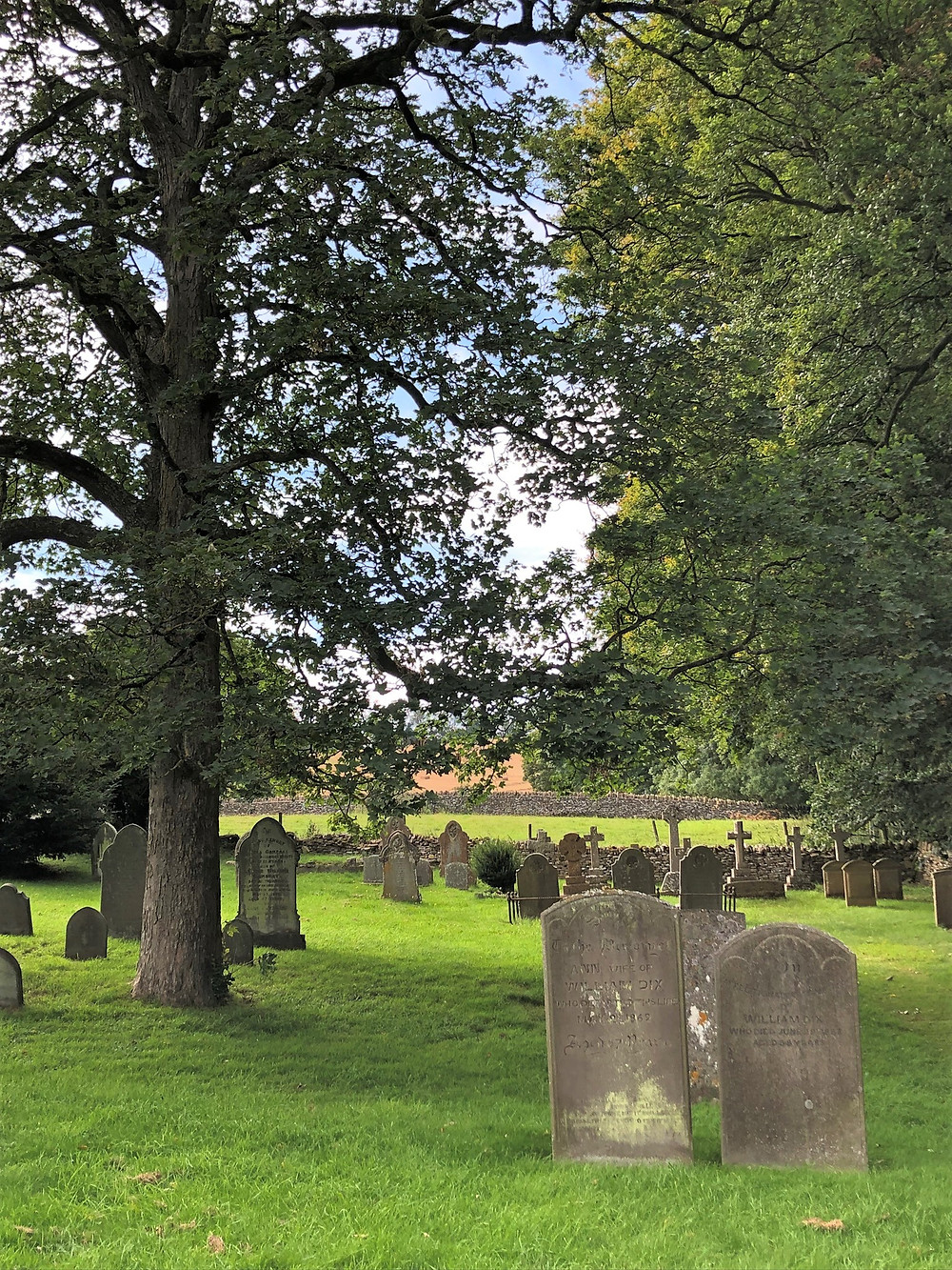 Cemetery at Church of St Peter's in Upper Slaughter of the Cotswolds