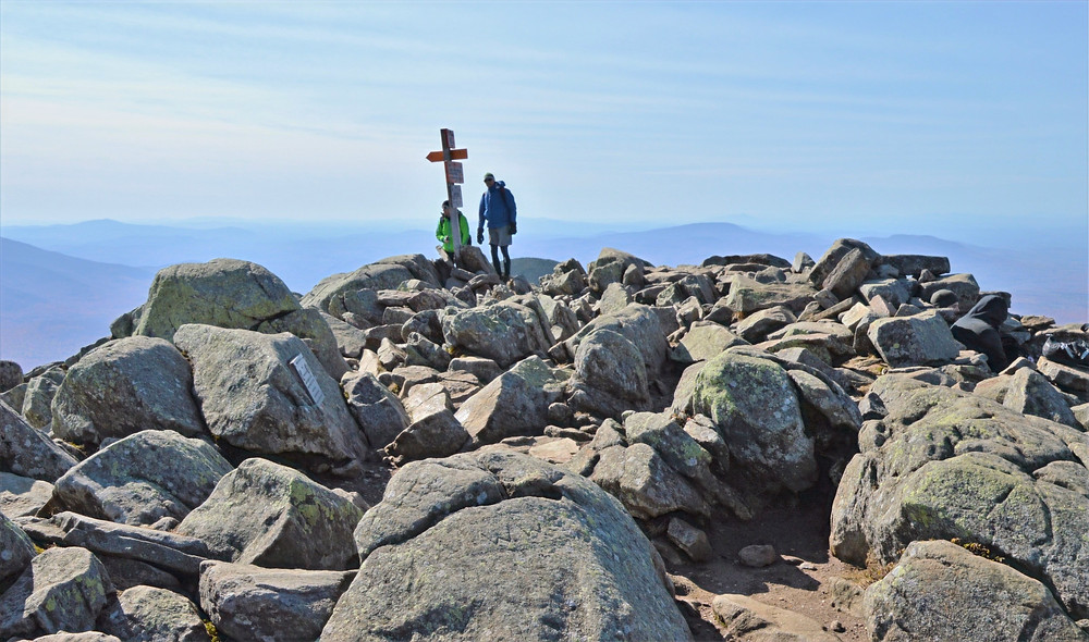 Rocky, barren and windy Mt Moosilauke summit in NH. NH 4000 footer
