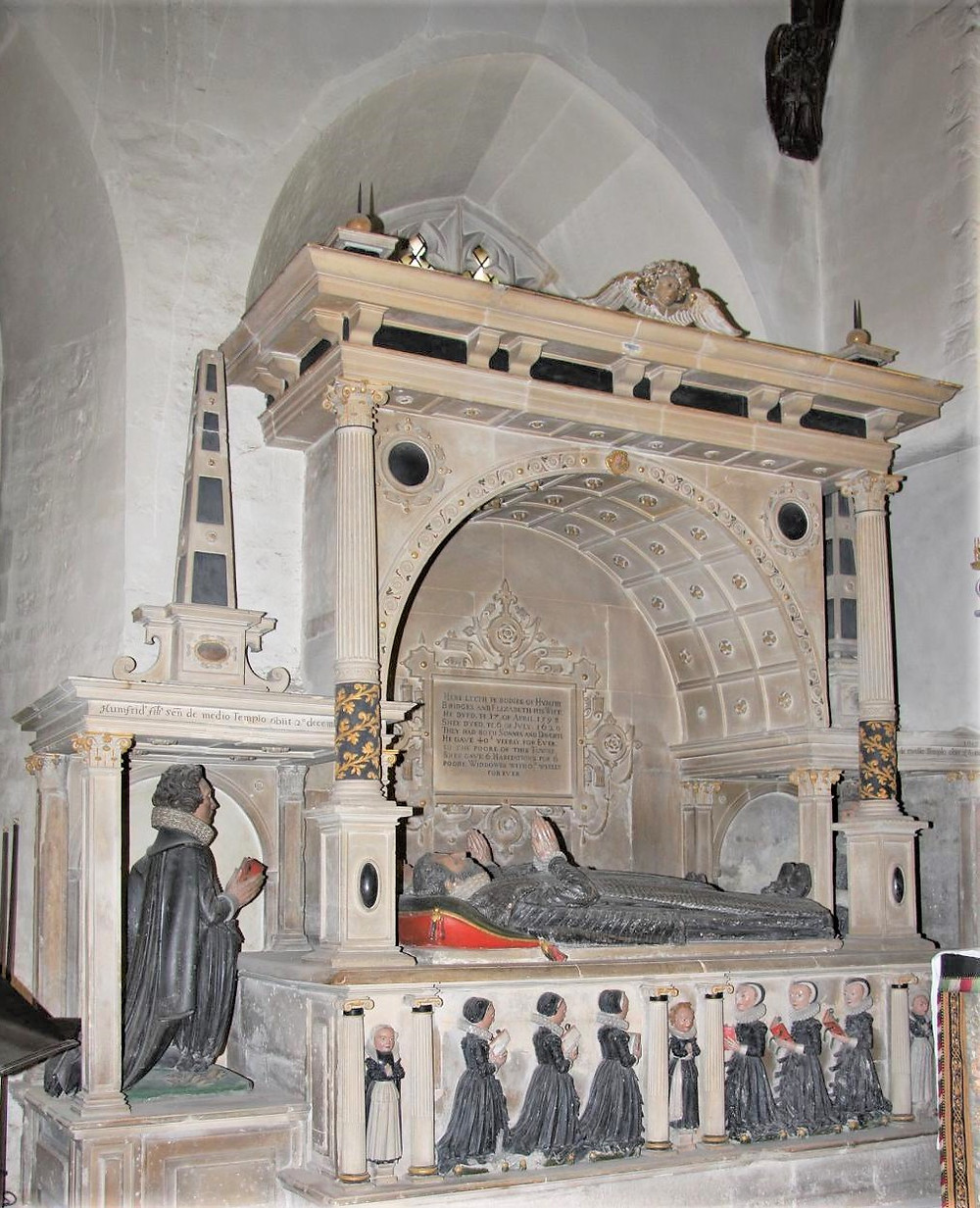 17th century tomb of Humfry Bridges in Cathedral of the Cotswolds, St. John the Baptist in Cirencester of the Cotswolds