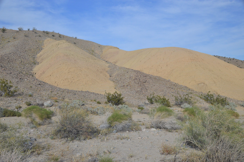 Exposed portion of the Imperial Formation on Willis Palm Trail