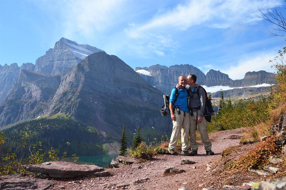Grinnell Glacier Hike glacier national park, mountain views