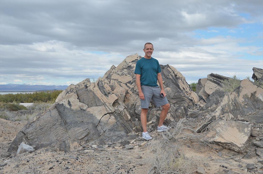 Obsidian flow in Obsidian Butte in the Salton Sea area