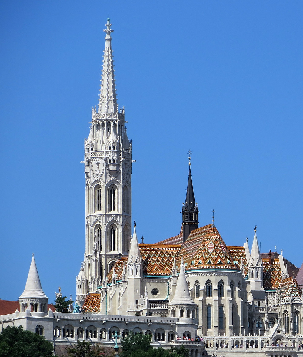 The first Matthias Church was built by King Stephen in 1015 but the current church dates to the 13th century