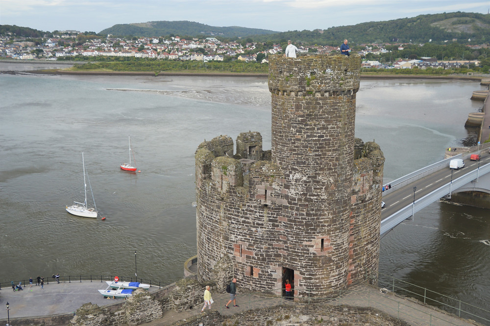 Chapel Tower in Conwy Castle Inner Ward for the King and his guests