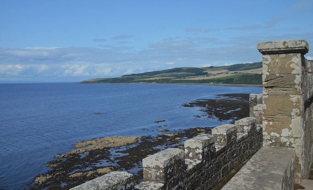 Culzean Castle on the Aryshire cliffs overlooking the Firth of Clyde in Scotland