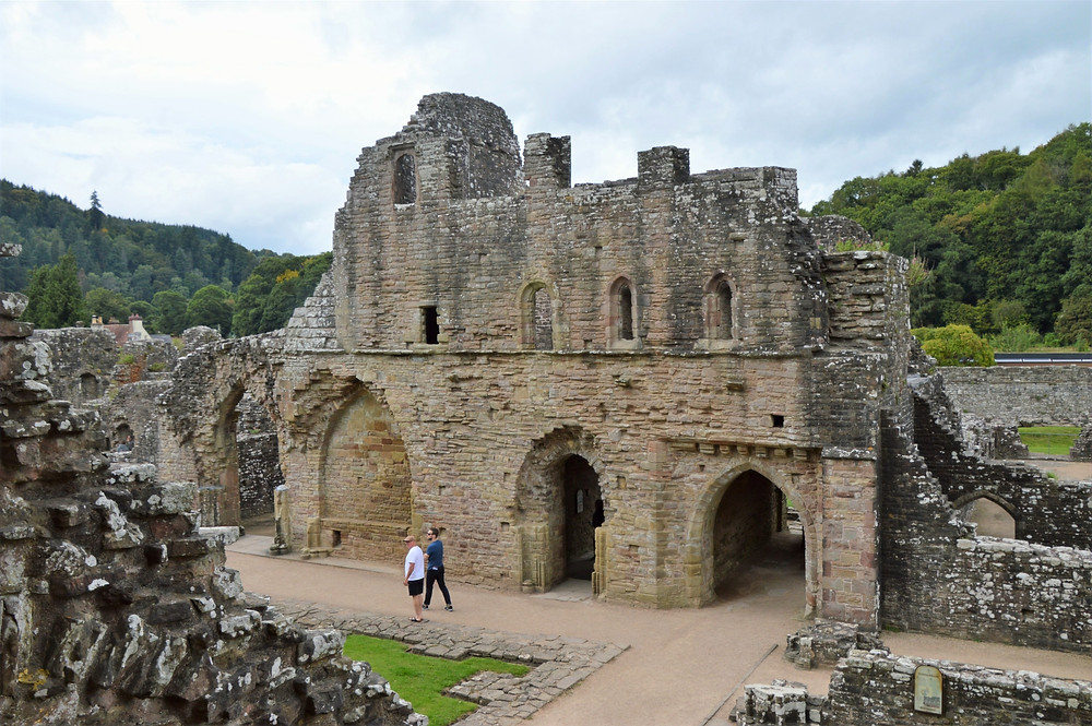 Ruins of abbey and the vast number of buildings to support the monk population of Tintern Abbey in South Wales