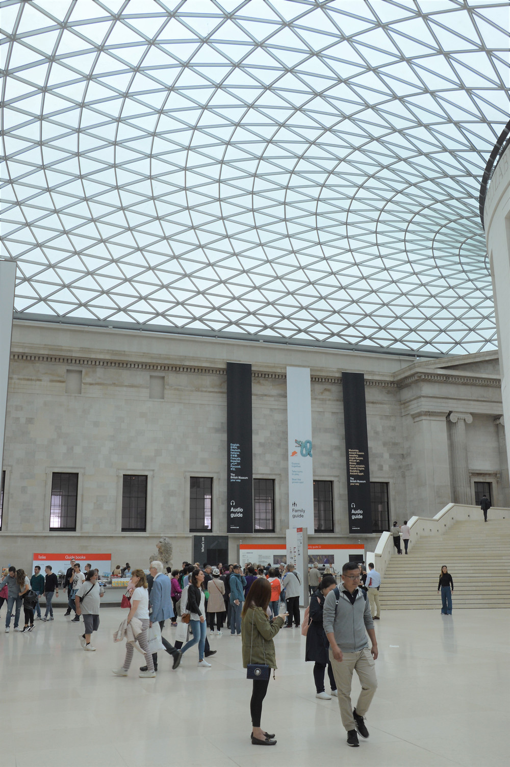 Queen Elizabeth II Great Court in The British Museum – the largest covered square in Europe