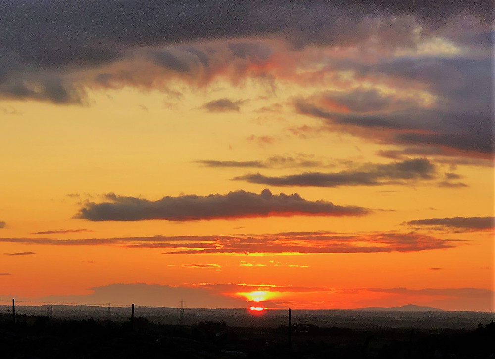 Sunset in Tregarty Wales.  Sunset Northern Wales