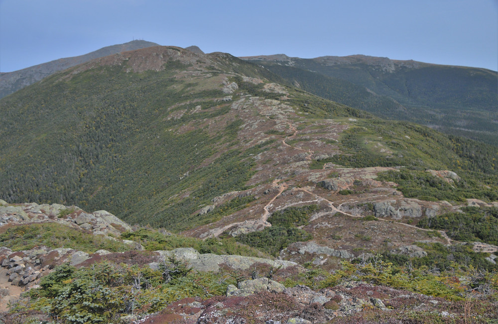 Junction of Edmands Path and Crawford Path from Mt Eisenhower