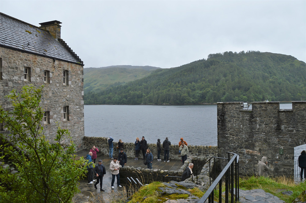 The Inner Courtyard of Eilean Donan Castle in Skye looking out on the Loch Alsh