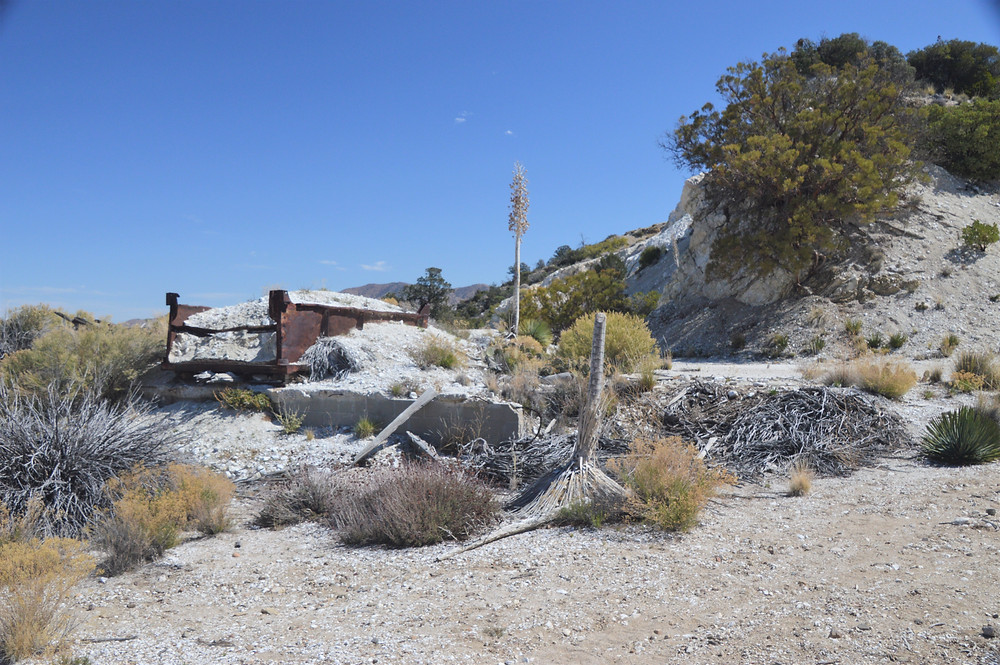 Old Dolomite mine along Cactus Spring trail in the Santa Rosa Mountain Wilderness