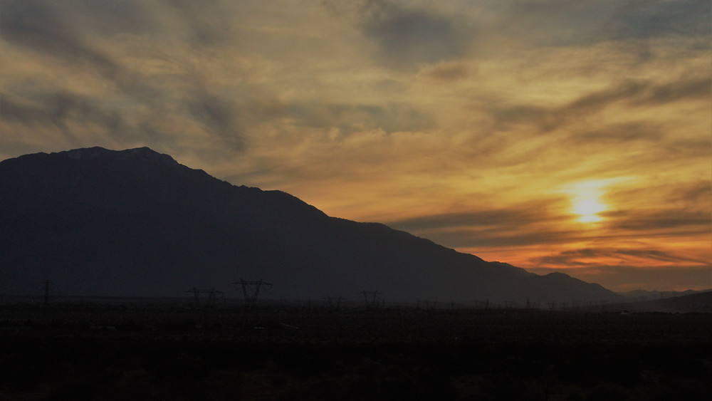 Sunset from Willis Palm Trail by the Coachella Valley Preserve April 2020