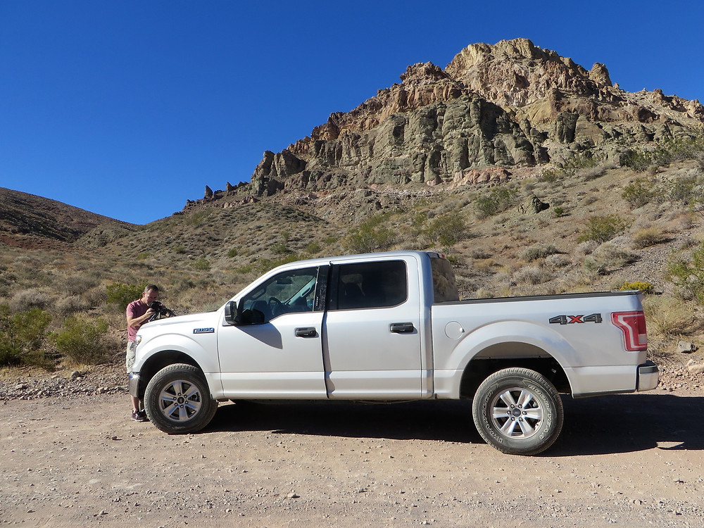 truck for driving titus canyon death valley national park