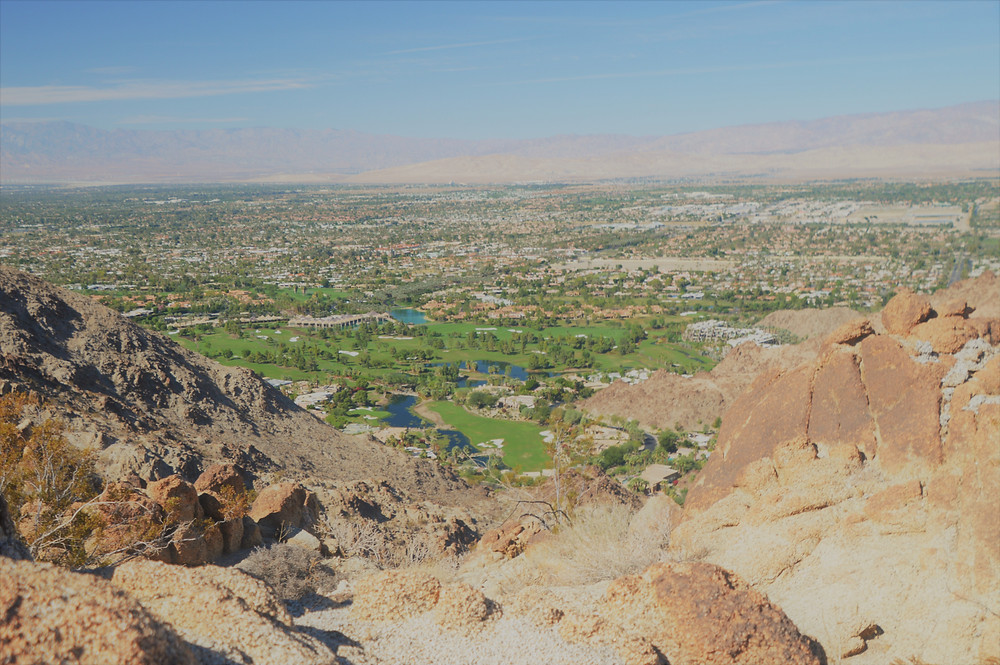 Views of Indian Wells from the Eisenhower Loop trail in the Santa Rosa Mountains.