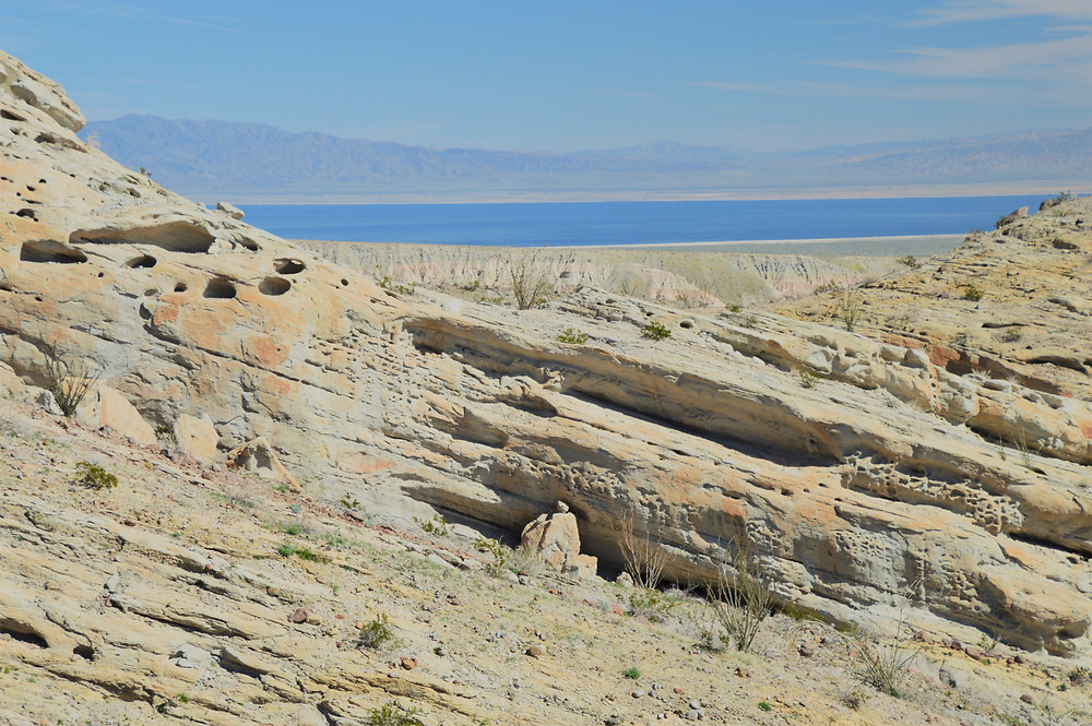 Views of the Salton Sea from the Calcite Mine Loop at Anza-Borrego State Park
