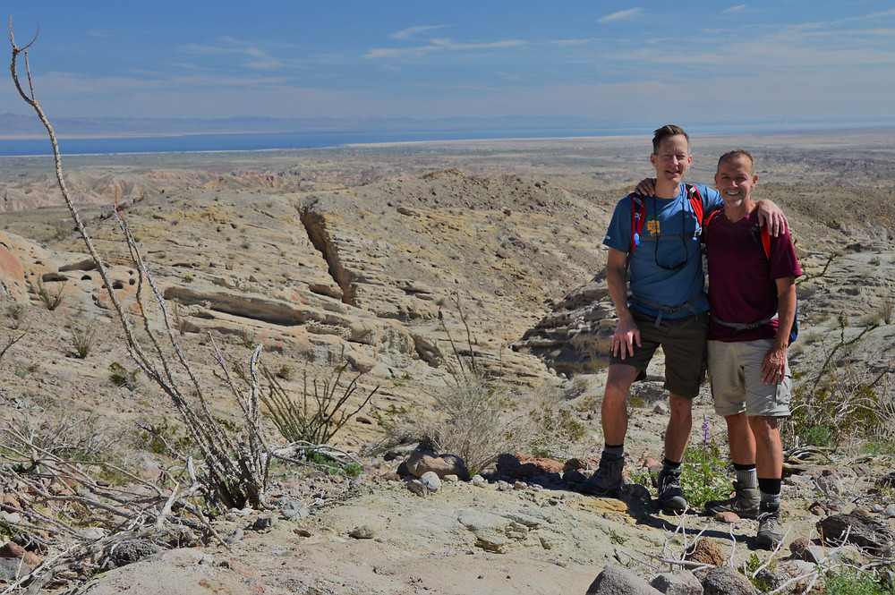 Hiking in the Calcite Mine area of Anza-Borrego State Park