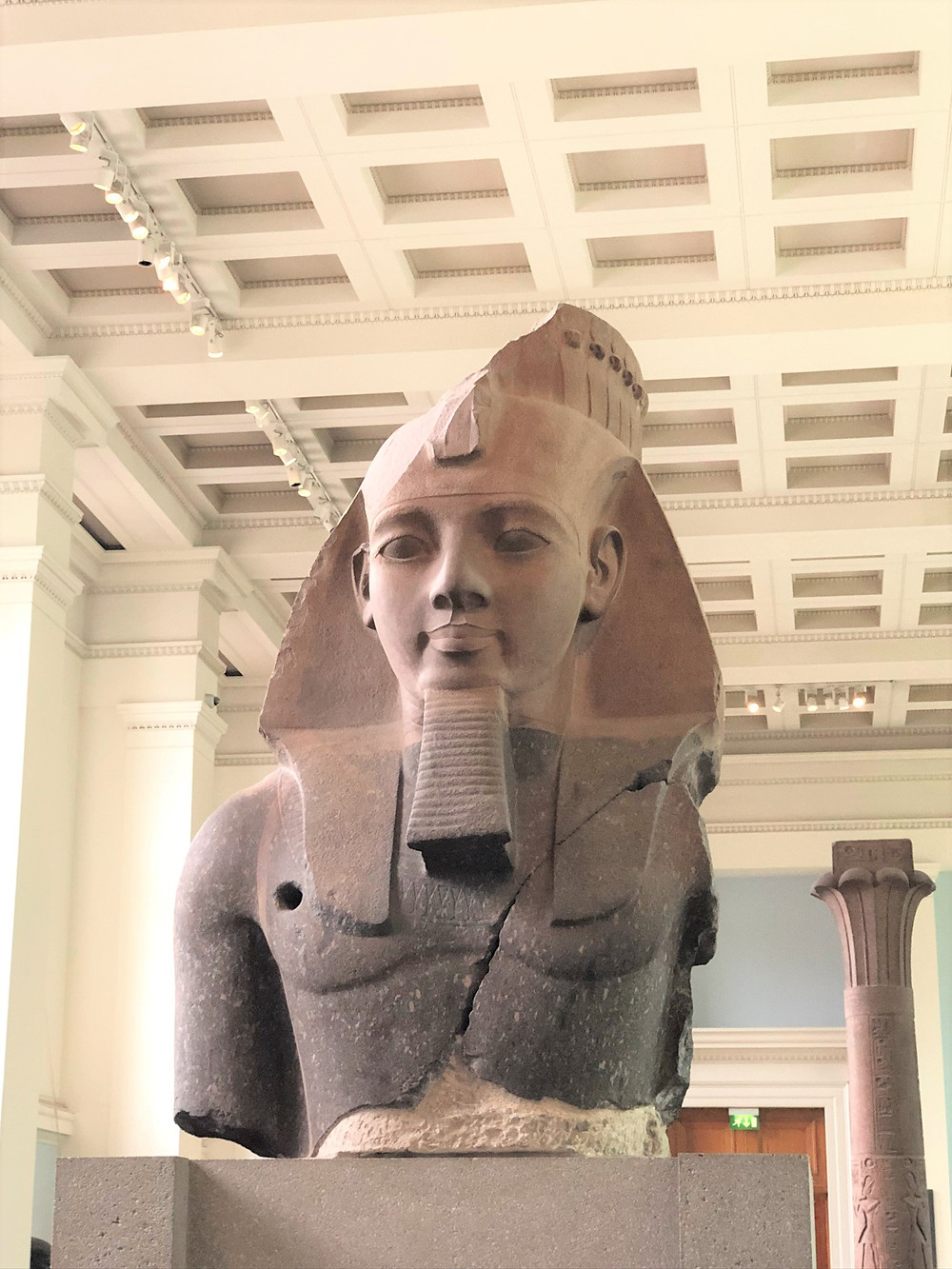 The largest Egyptian sculpture of Ramesses II in The British Museum originally flanked the Ramesseum's doorway
