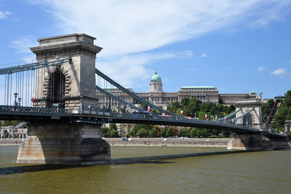 The Széchenyi Chain Bridge is a suspension bridge that spans the River Danube between Buda and Pest was opened in 1849