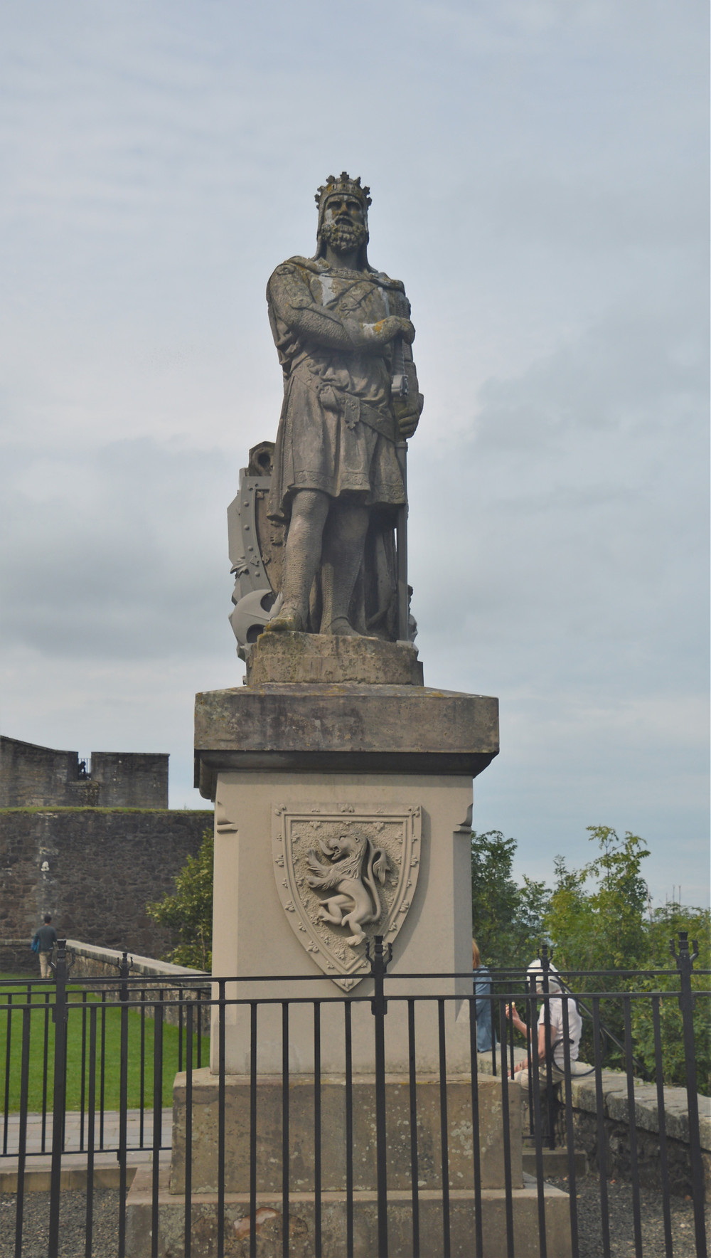 A statue of Robert the Bruce (Robert I) at the entrance to Stirling Castle in Scotland